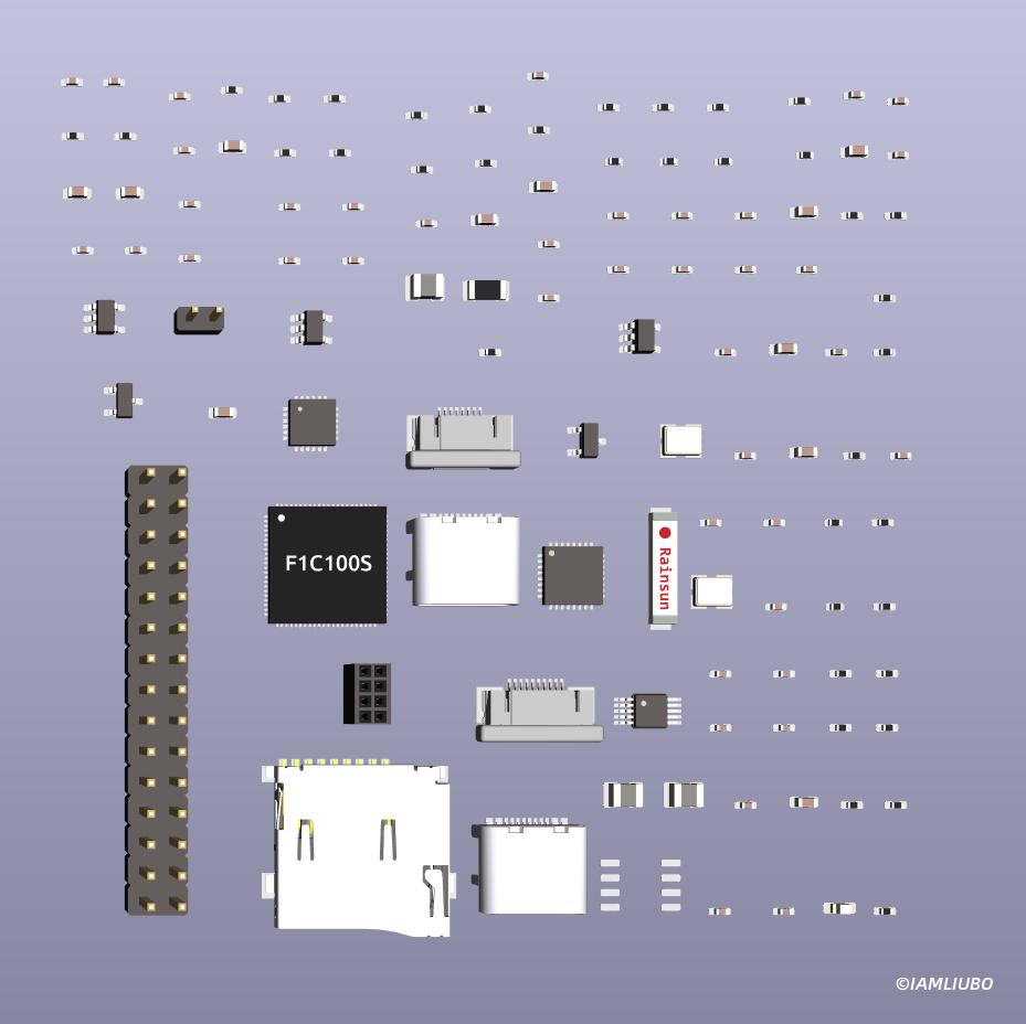 PCB布局 器件 3D