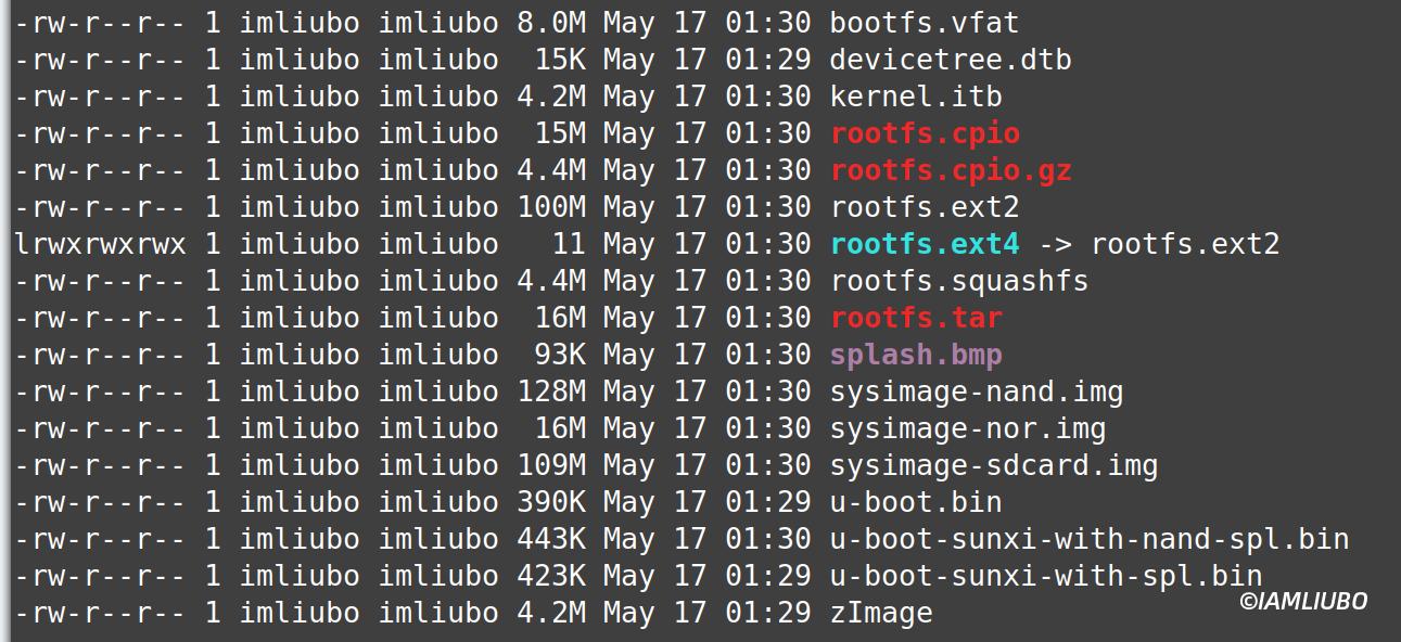 buildroot 输出文件